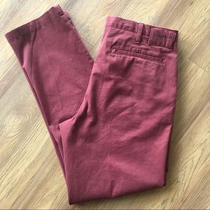 Thomas Dean Classic Flat Front Chinos